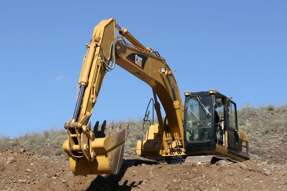 Download Free Stock HD Photo of Front loading excavator Online
