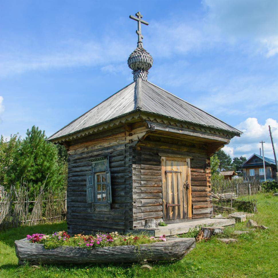 Download Free Stock HD Photo of Ancient wooden chapel.  Online