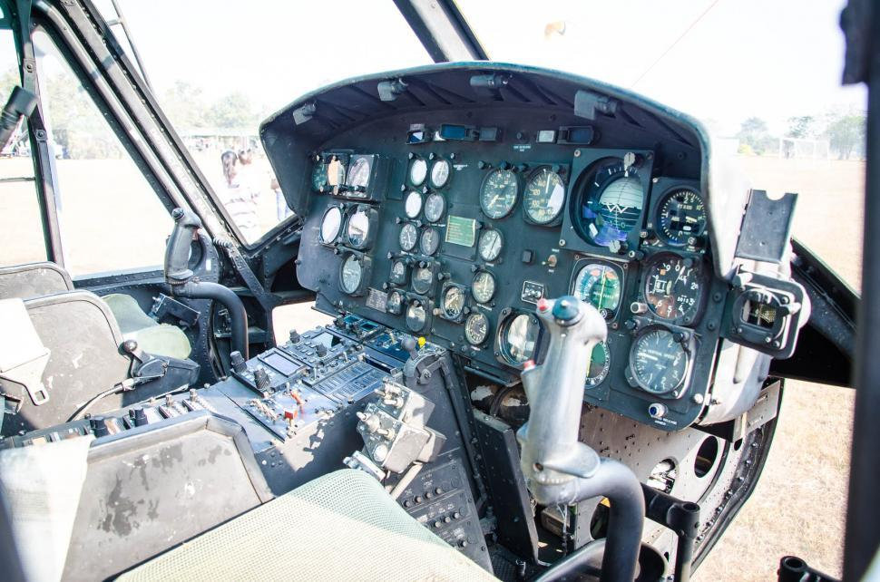 Download Free Stock HD Photo of Helicopter Cockpit Online