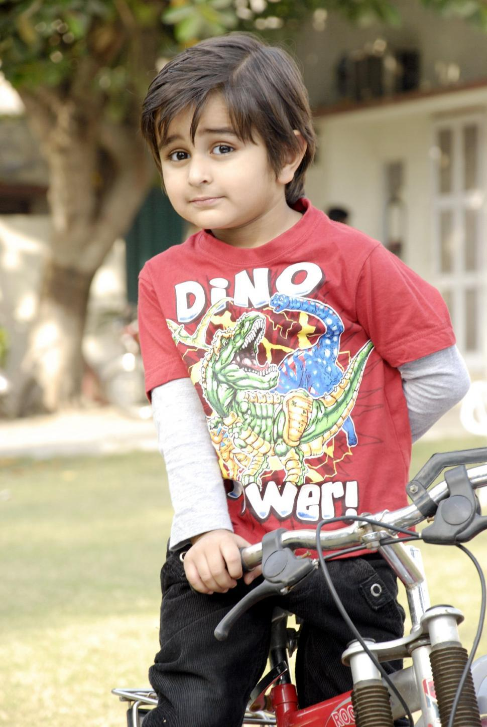 Download Free Stock HD Photo of Cute Child with Bicycle Online