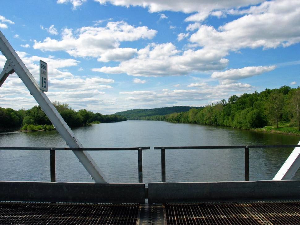 Download Free Stock HD Photo of Delaware River Looking North From Bridge Online