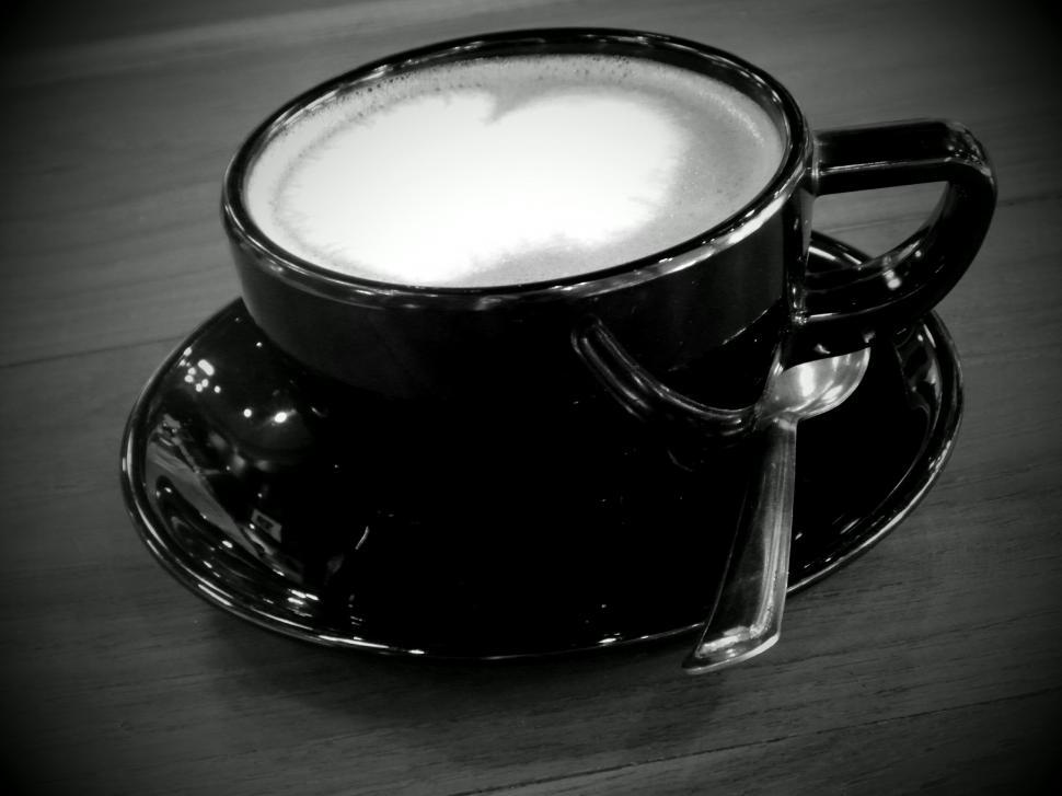 Download Free Stock HD Photo of Coffee Heart Black and White Online