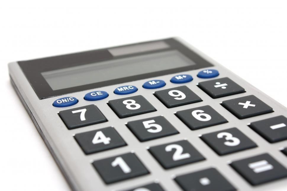 Get Free Stock Photos of A calculator isolated on a white