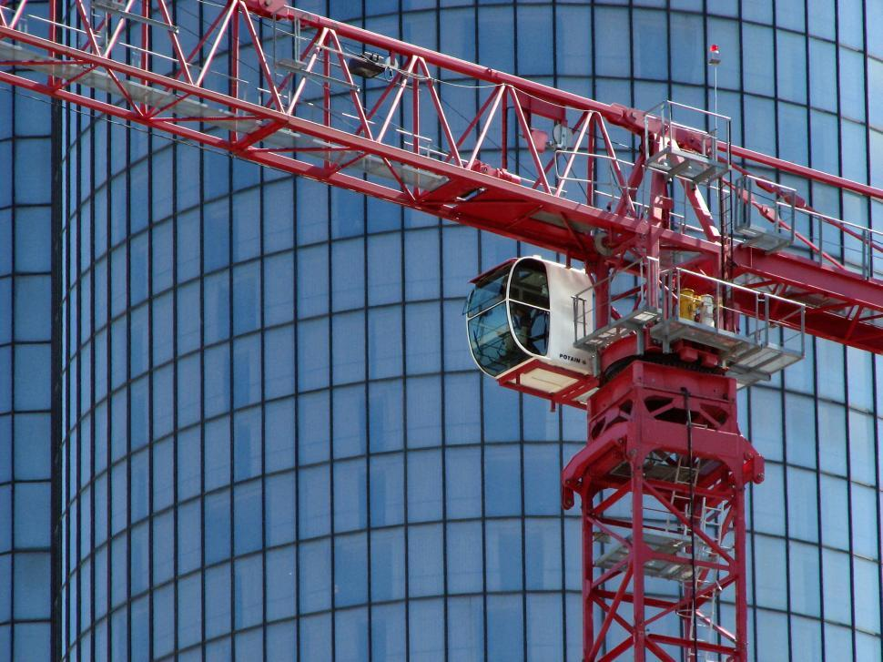Download Free Stock HD Photo of Red construction crane Online