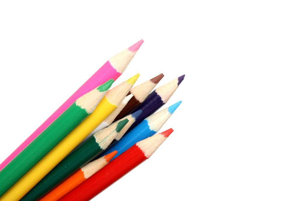 Download Free Stock HD Photo of Close-up of colored pencils Online