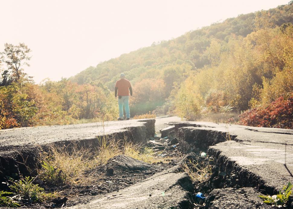 Download Free Stock HD Photo of broken road Online