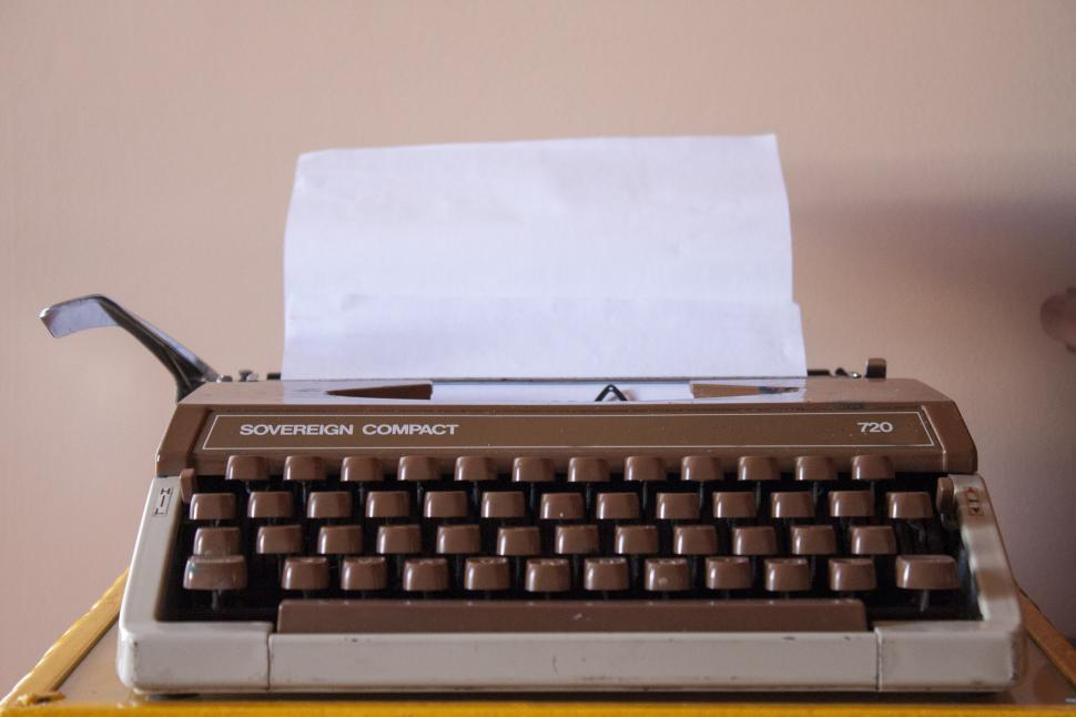 Download Free Stock HD Photo of Typewriter Front Online