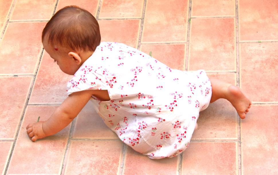 Download Free Stock HD Photo of Baby falls on the floor Online