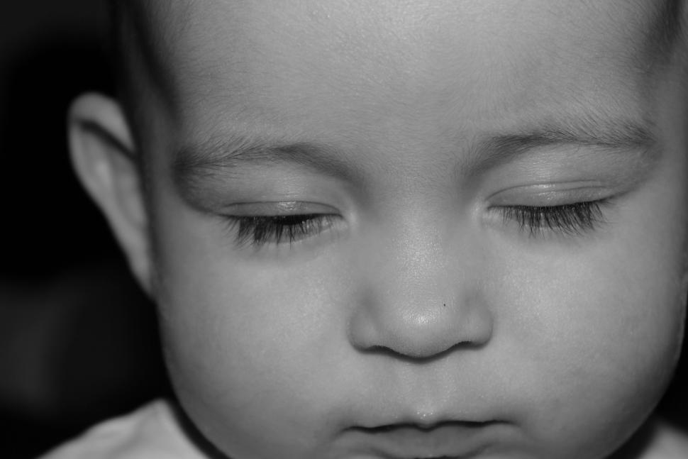 get free stock photos of baby with eyes closed online