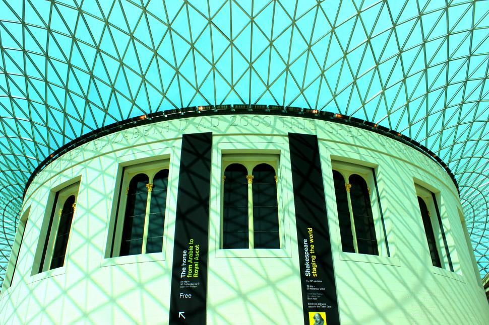 Download Free Stock HD Photo of Glass Roof over the Great Court at the British Museum by Norman  Online