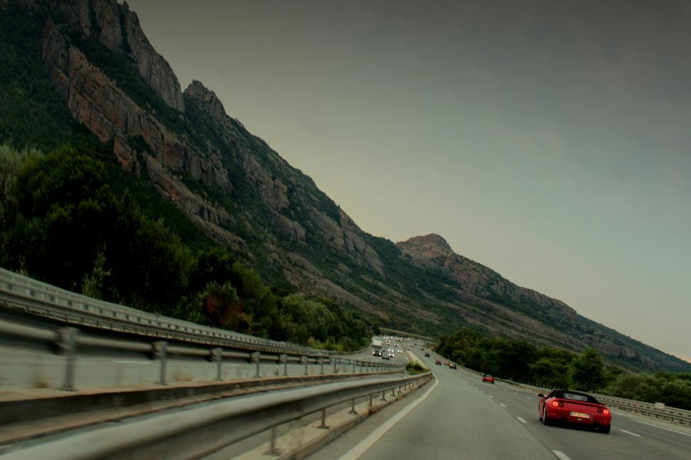 Download Free Stock HD Photo of Racing at high speed down the highway in Roquebrune Provence Fra Online