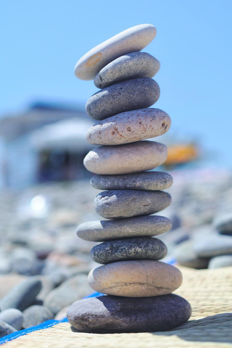 Download Free Stock HD Photo of Stacked pebbles Online