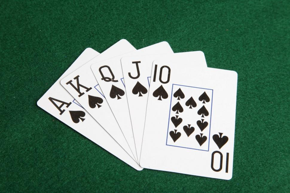 Download Free Stock HD Photo of Royal flush of spades Online