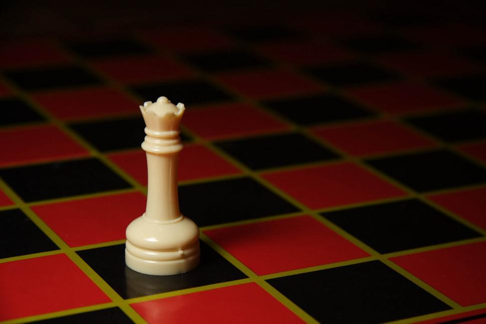 Download Free Stock HD Photo of Plastic queen chess piece Online