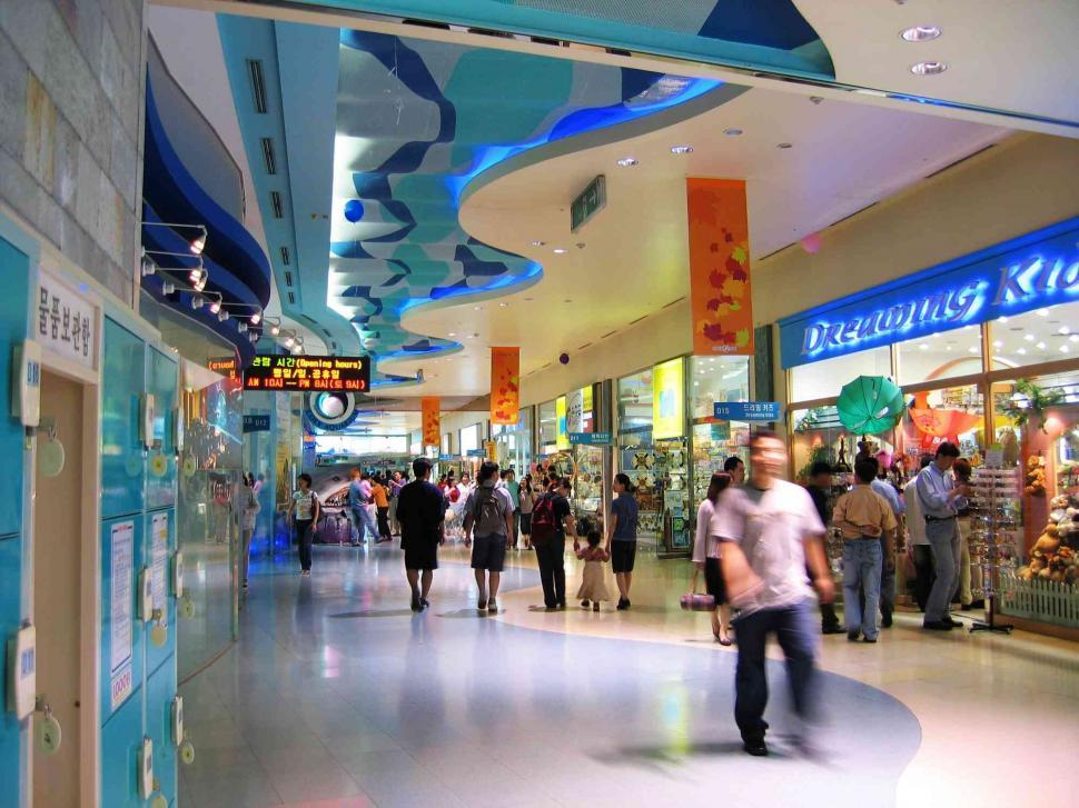 Download Free Stock HD Photo of Shoppers at shopping center Online