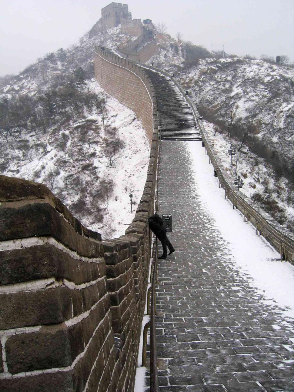 Download Free Stock HD Photo of Great Wall in winter Online