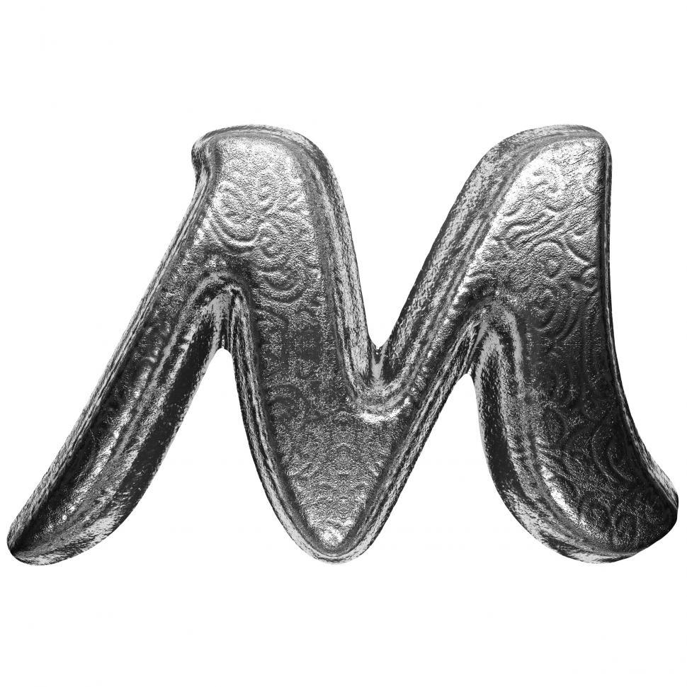 Download Free Stock HD Photo of isolated silver letter Online