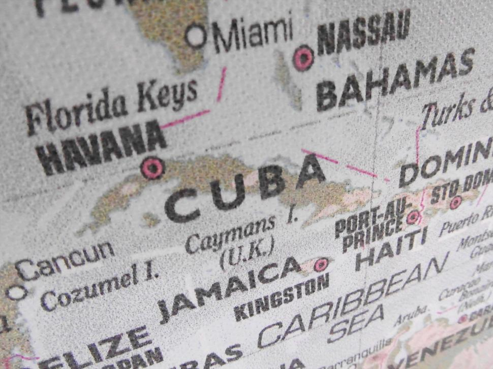 Download Free Stock HD Photo of Cuba Map Online