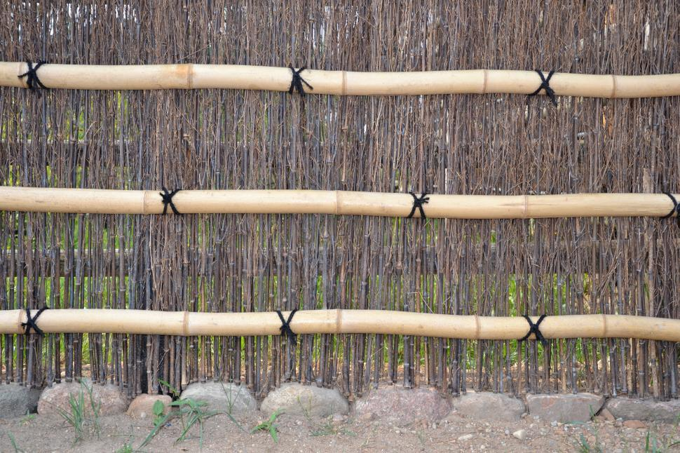 Download Free Stock HD Photo of Bamboo fence Online