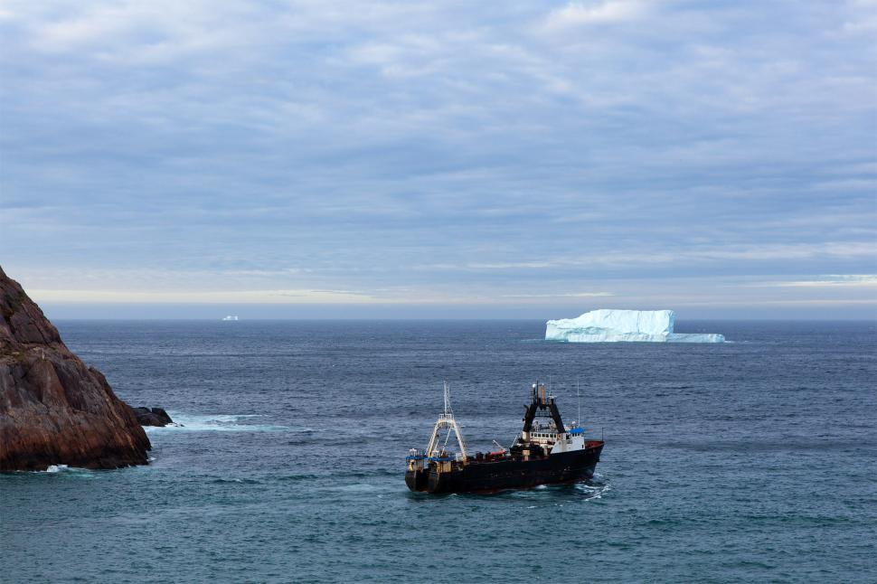 Download Free Stock HD Photo of Trawler and iceberg Online