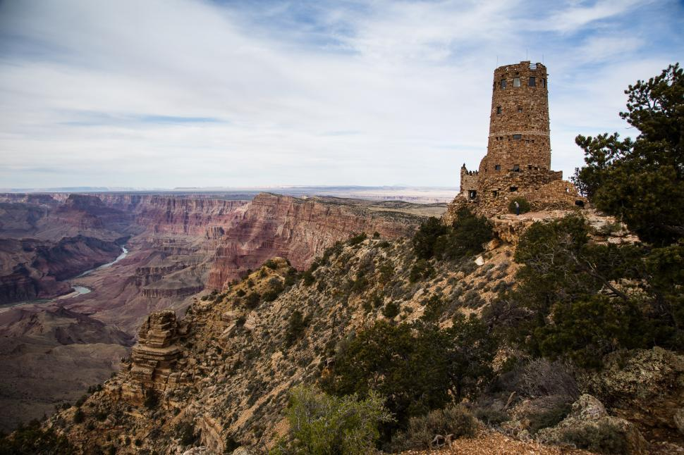 Download Free Stock HD Photo of Desert View Watchtower Online