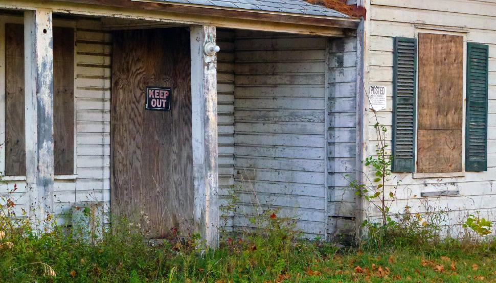 Download Free Stock HD Photo of Keep Out - Boarded Up House Online