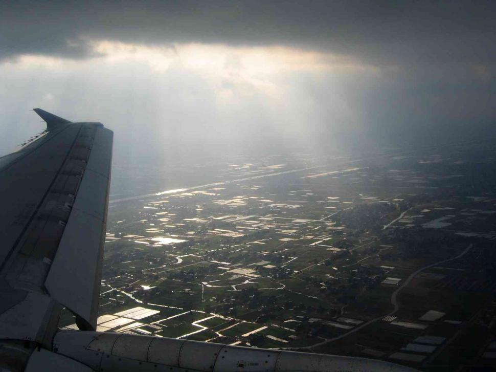 Download Free Stock HD Photo of View from a jet plane Online
