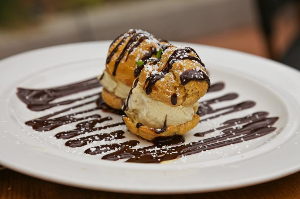 Download Free Stock HD Photo of Profiteroles Online
