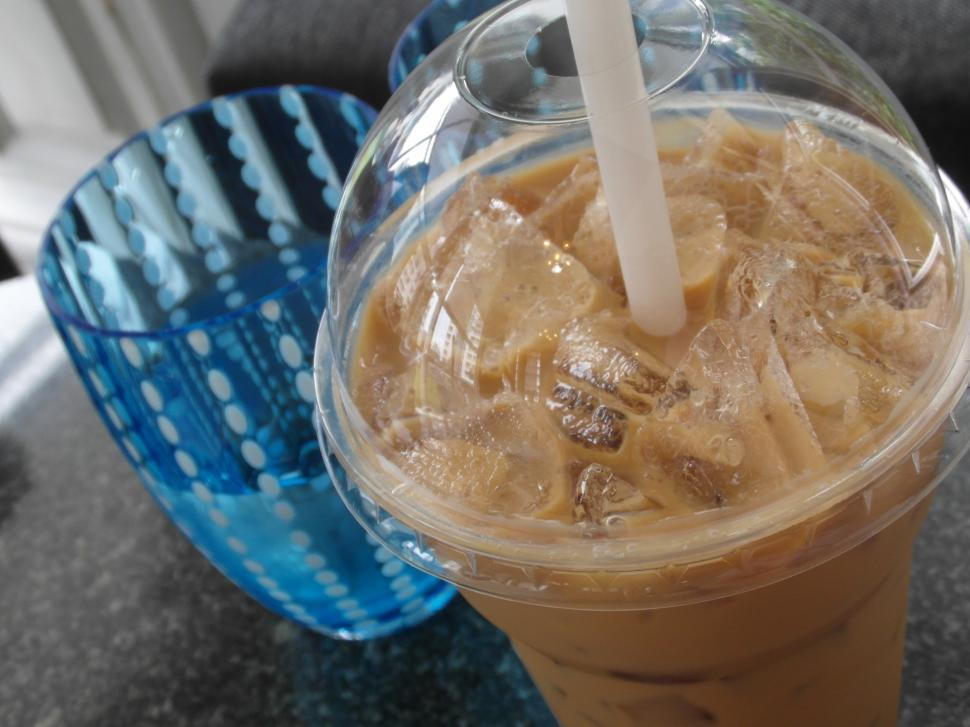 Download Free Stock HD Photo of Iced Coffee and Water Online