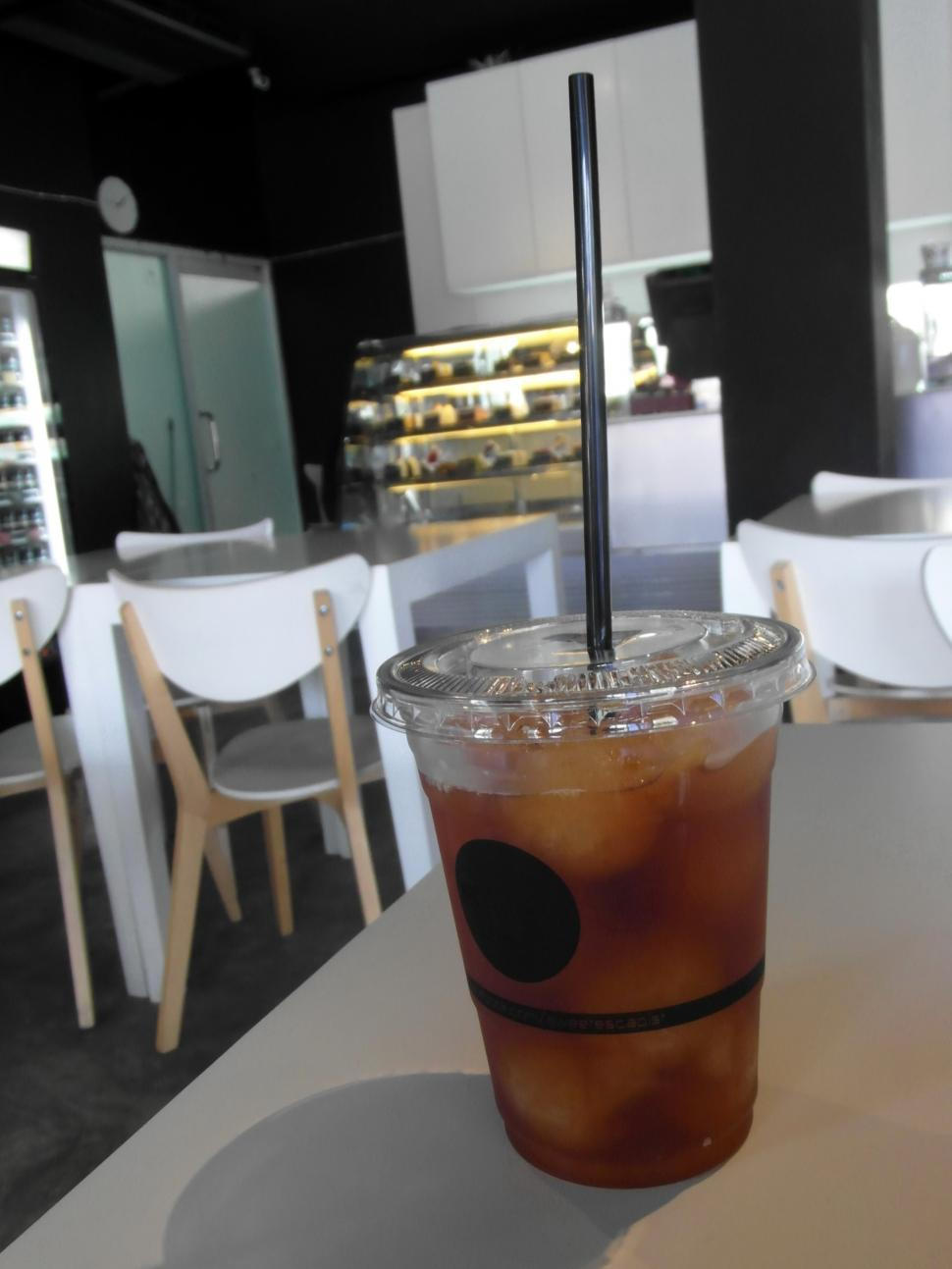 Download Free Stock HD Photo of Iced Lemon Tea in a Cafe Online