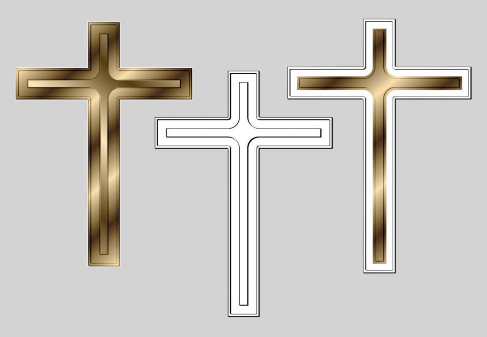 Download Free Stock HD Photo of Three Metal Crosses Online
