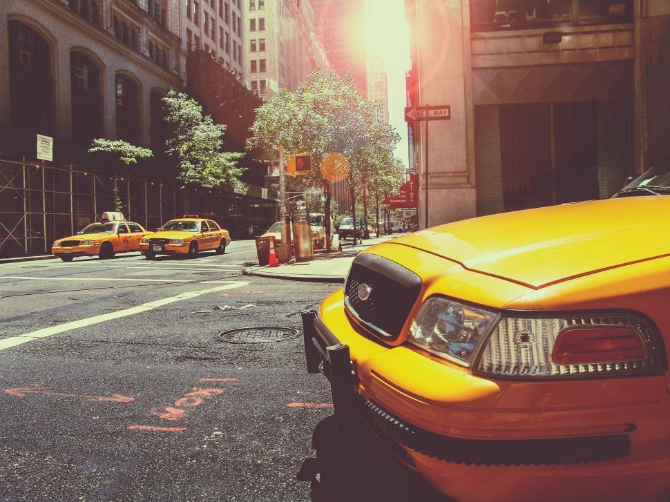 Download Free Stock HD Photo of Yellow Taxis Online