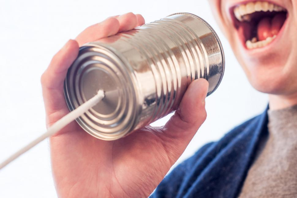 Download Free Stock HD Photo of  Tin can telephone  Online