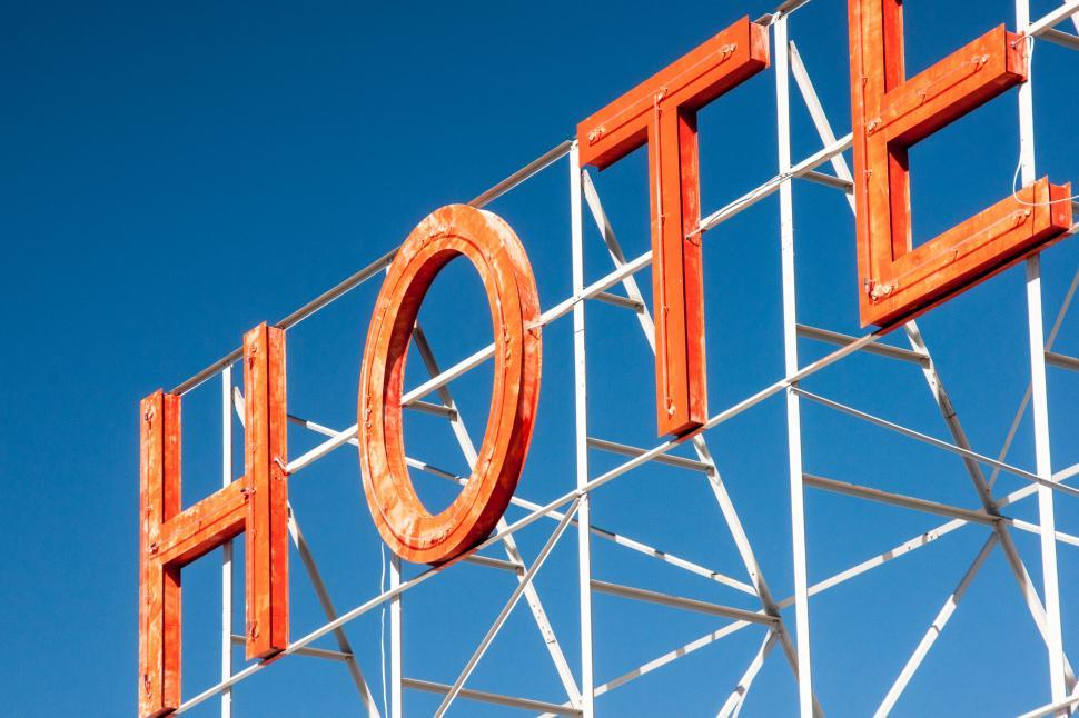 Download Free Stock HD Photo of Hotel Sign Online