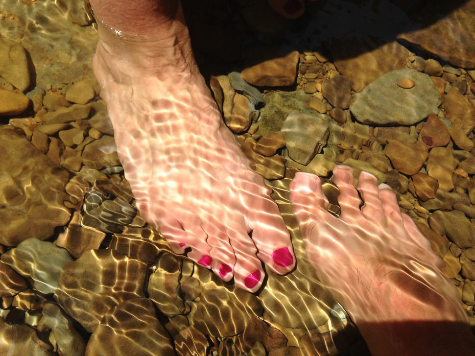 Download Free Stock HD Photo of Toes in Stream Online