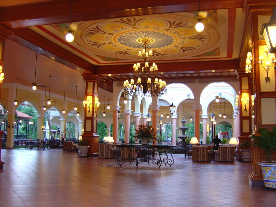 Get free stock photos of tropical hotel lobby online for Tropical hotel decor