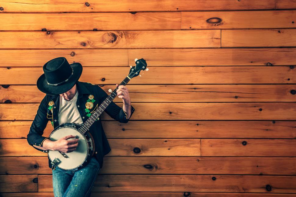 Download Free Stock HD Photo of  Banjo Player Online