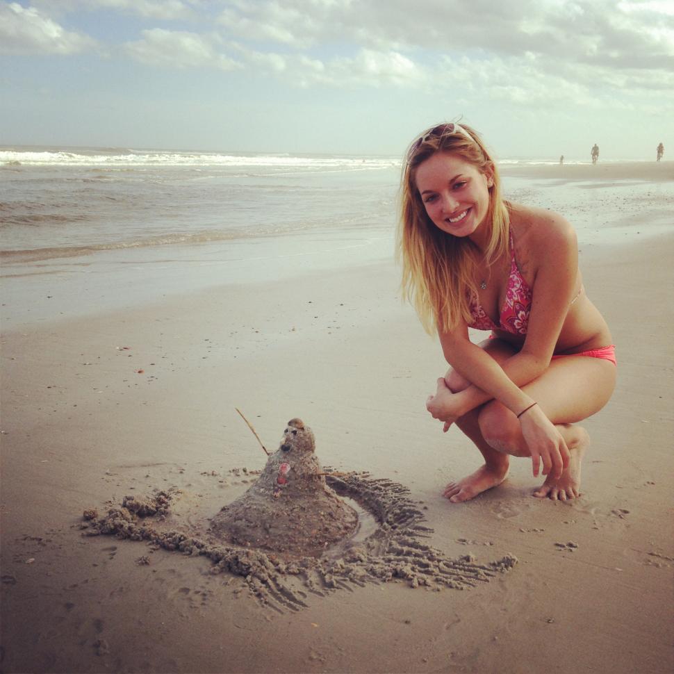 Download Free Stock HD Photo of Sandman on Beach Online