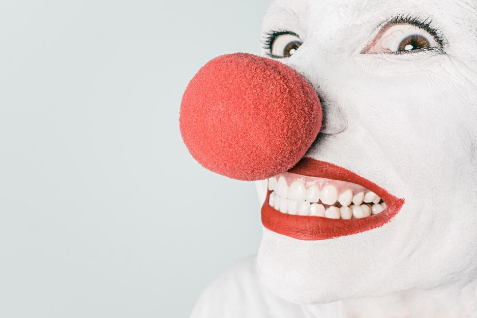 Download Free Stock HD Photo of Pale clown Online