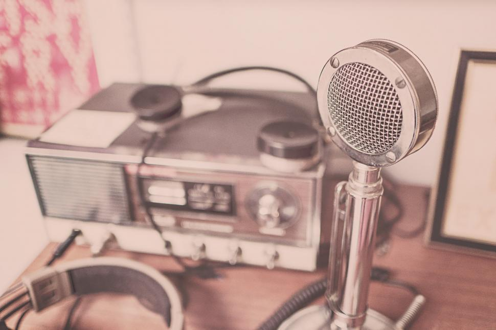 Download Free Stock HD Photo of Vingage Microphone Online