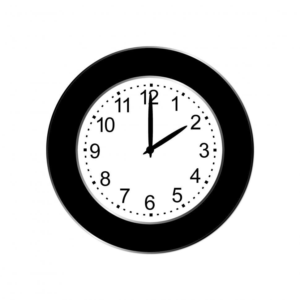 Download Free Stock HD Photo of Black Wall Clock Online