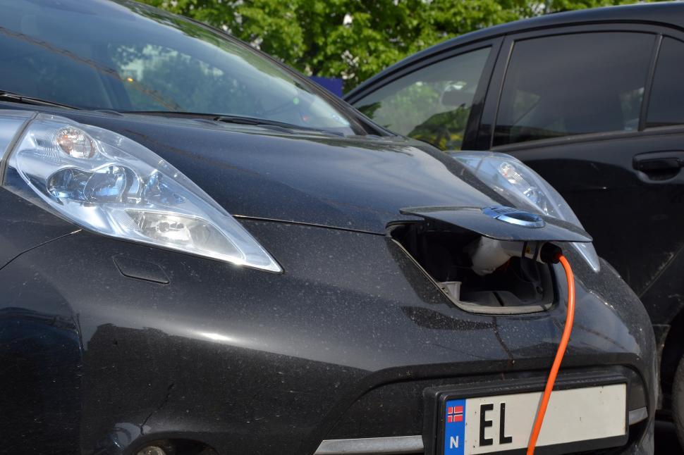 Download Free Stock HD Photo of Charging Nissan Leaf Online