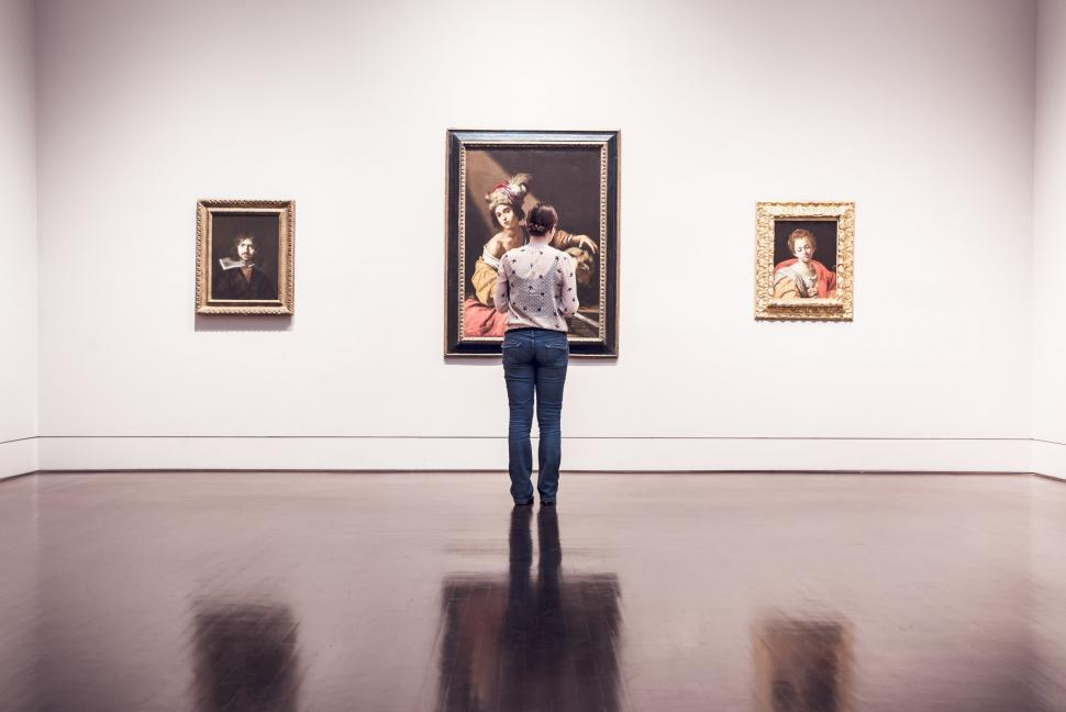 Download Free Stock HD Photo of Inside an art gallery Online