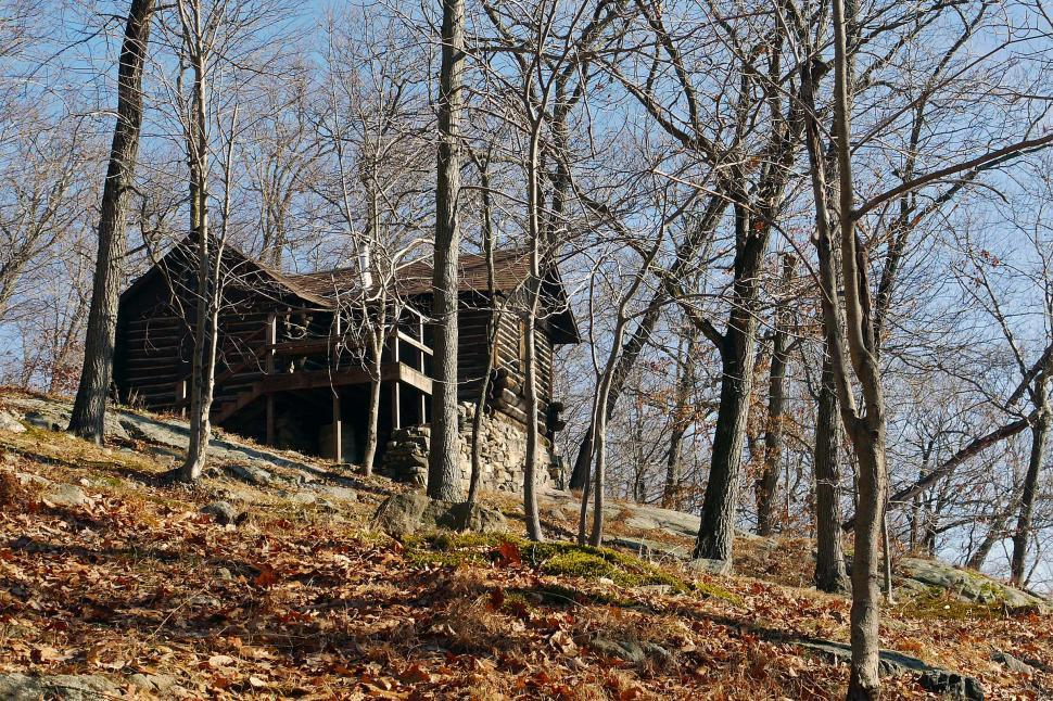 Download Free Stock HD Photo of Log Cabin In The Woods Online