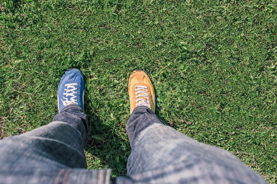 Download Free Stock HD Photo of Two different colored shoes Online