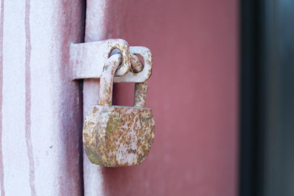 Download Free Stock HD Photo of Rusty lock Online
