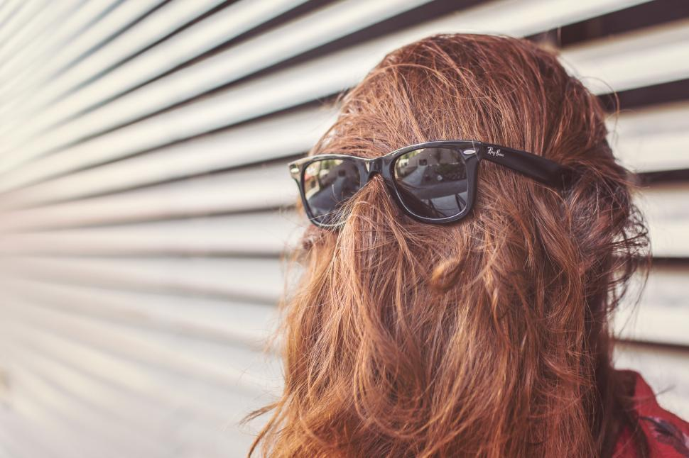 Download Free Stock HD Photo of Sunglasses on the back of a head Online