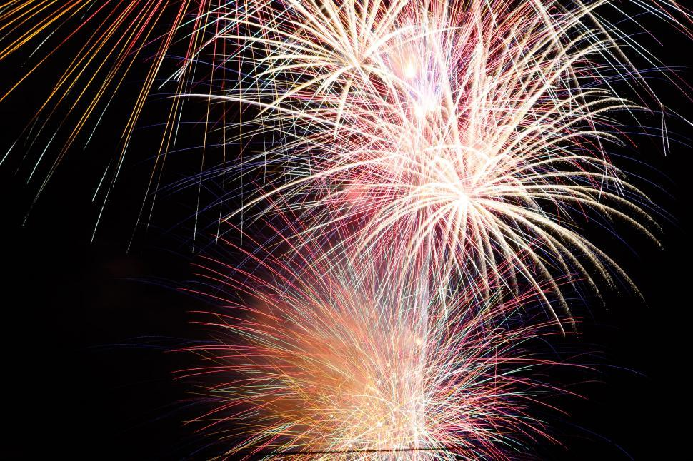 Download Free Stock HD Photo of Fireworks shine in night Online