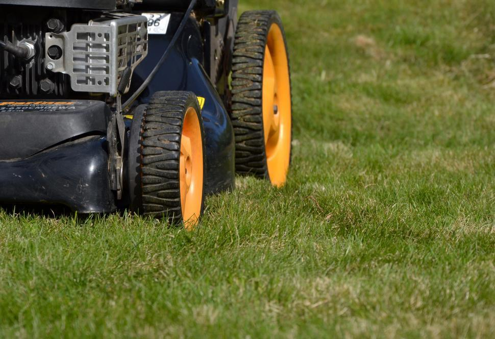 Download Free Stock HD Photo of Lawn mower wheels Online