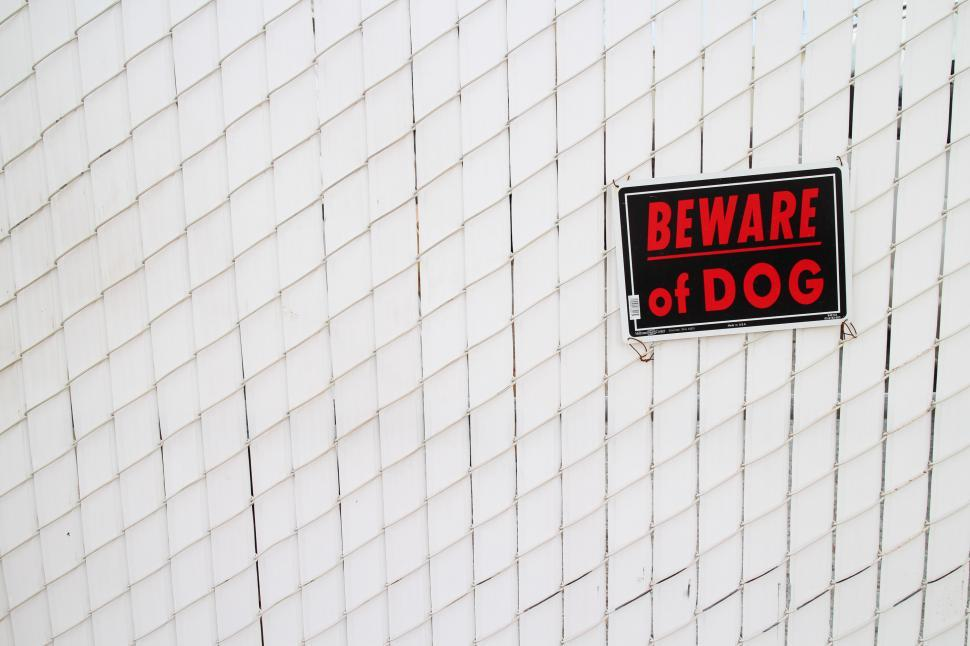 Download Free Stock HD Photo of Beware of Dog sign Online
